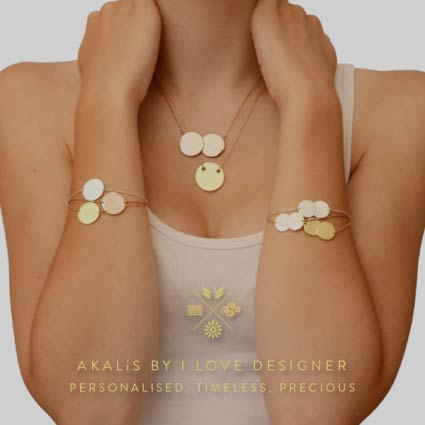 AKALiS by I Love Designer - Personalised, Timeless and Precious - Engravable - Inscription - Inscribe