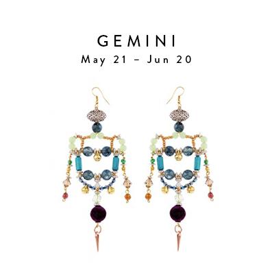 Gemini May 21 - June 20 Giana Earrings By Anita Quansah London