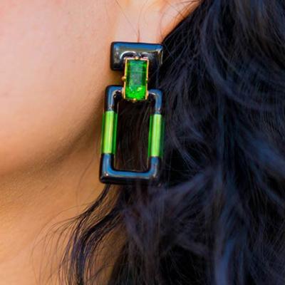 Quadrangle Earrings