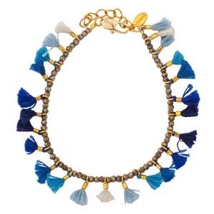 Jamie Blue Tassel Bracelet by Shashi NY