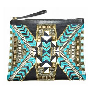 Pravin Clutch Teal by Ethnique PH