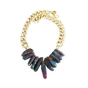 Rocked Up Mermaid Necklace - Shh by Sadie London