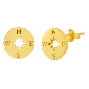 Compass Stud Earrings POTC Jewellery London
